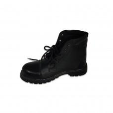Ankle Length Black Boot With Toe Art #Dmshalf