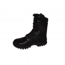 Long Leather Black Army Full Boot With Toe # 540