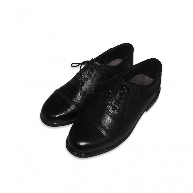 Derby Cut Oxford Black Army Shoe