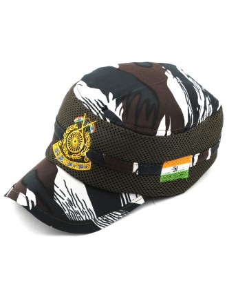 Militia CRP ( CENTRAL RESEREVE POLICE FORCE ) Cap with Flag and Kadai Band