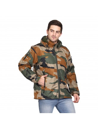 Indian Army 12 Chain 10 Pockets Fleece Lining Water Proof / Wind Proof Jacket