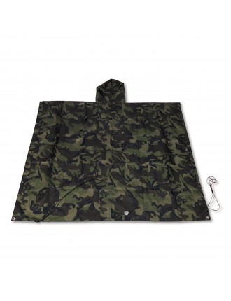 Camouflage / Olive Green Reversible Poncho