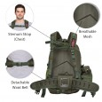 Militia 45L Military Green Backpack with Waist Pouch