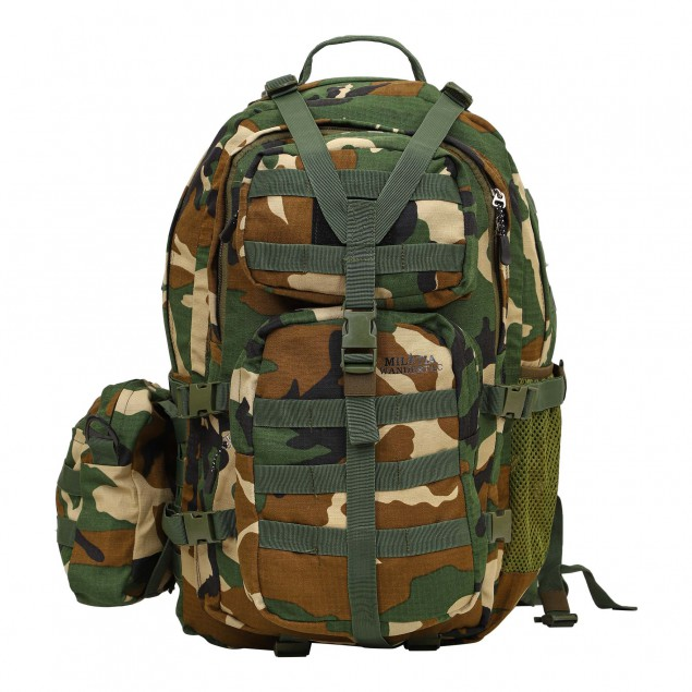 Militia 45L Backpack UNO Digital Camouflage with Waist Pouch
