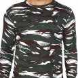Miltia Military Camouflage Men Round Neck CRPF Pure Cotton full sleeves Multicolor T Shirt