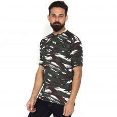 Miltia Military Camouflage Men Round Neck CRPF half sleeves Multicolor T Shirt