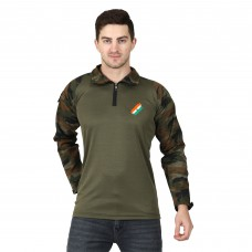 Militia URI Flag Cobra Camouflage Full Sleeves T-Shirt