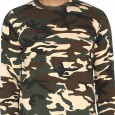 Militia Printed Military Camouflage Men Round Neck SSB Pure Cotton full sleves Muliticolor T Shirt