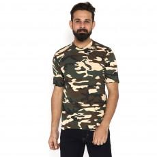 Miltia Military Camouflage Men Round Neck SSB Pure Cotton  Multicolor T Shirt