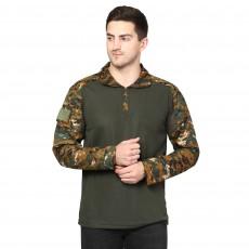 MILITIA Men's Camouflage Full Sleeves URI Pattern Jali Cobra T-Shirt