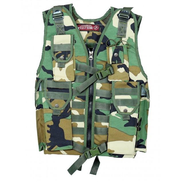 Tactical Vest Ammunition Pouch Woodland