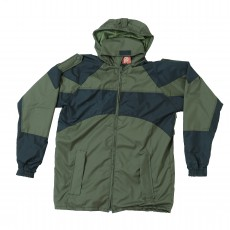 Olive Green Black Army Windcheater